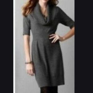 Anne Taylor Loft Wool Blend Gray Sweater Dress SP